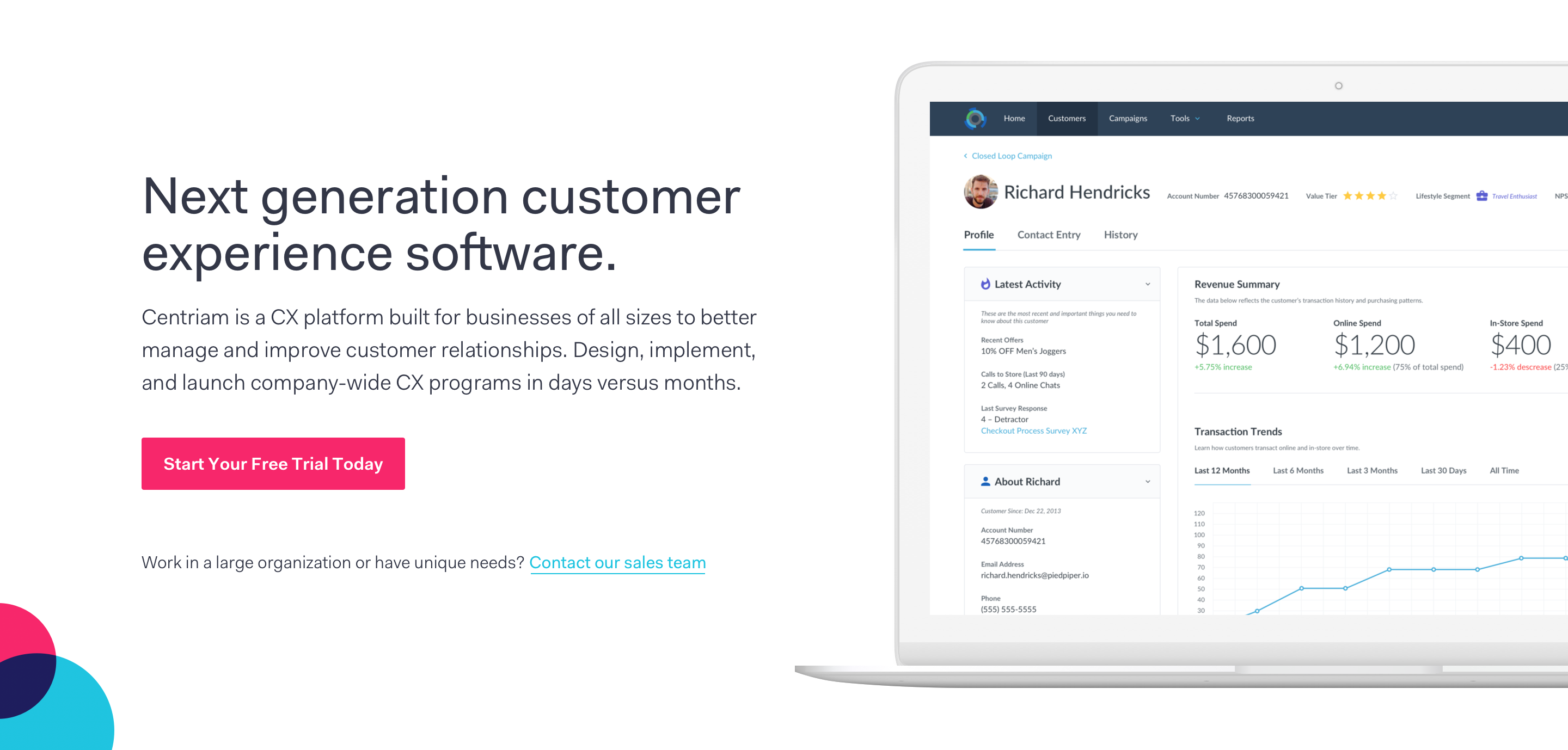 Centriam Customer Experience Software